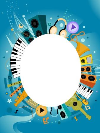 instrumentos musicales: Musical Instruments volante de dise�o con espacio para el texto en el Oriente Medio