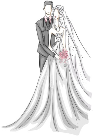 bride groom: Bride and Groom Sketch
