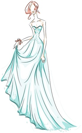 gala: Girl in Gown Sketch