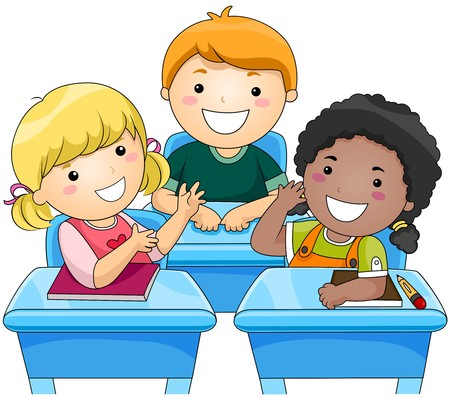 children school clip art: Children Discussion