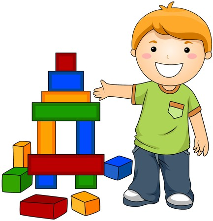 toy blocks: Boy with Toy Blocks