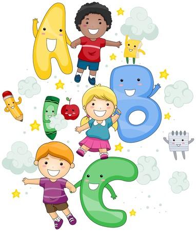 Niños de ABC  Foto de archivo - 7615533