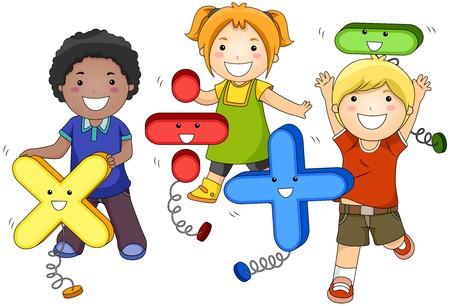 addition: Math�matiques Kids   Banque d'images