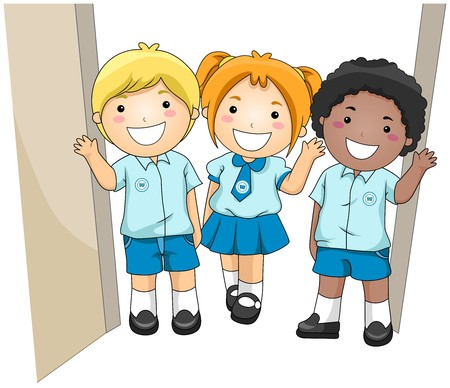 children school clip art: Students