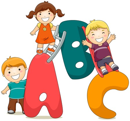 children school clip art: ABC Kids
