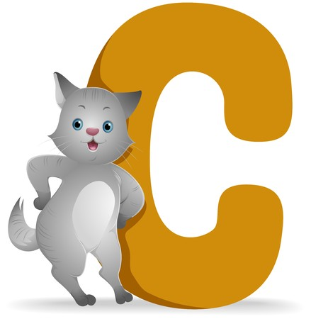 cat alphabet: C for Cat