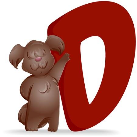 alphabet animaux: D pour chien