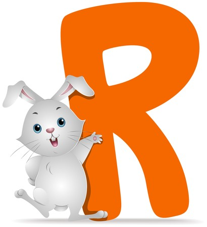 all caps: R for Rabbit