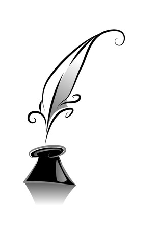 ink illustration: Black and White Series: Quill