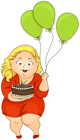 Plump Woman Birthday  photo