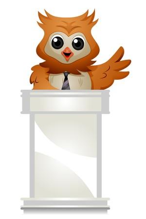 Owl speaking Stock Photo - 7701813