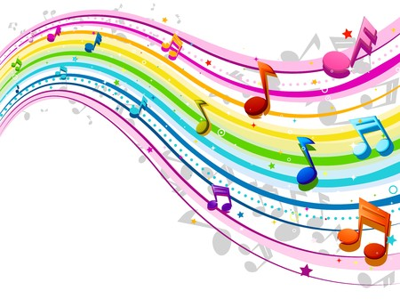 Music Wave in Rainbow Colors Stock Photo - 7701924