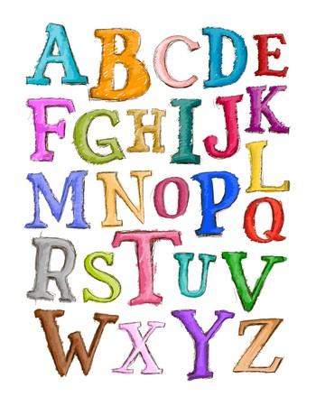 alphabet cartoon: Alphabet Sketch