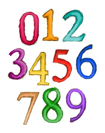 numbers: Numbers Sketch   Stock Photo