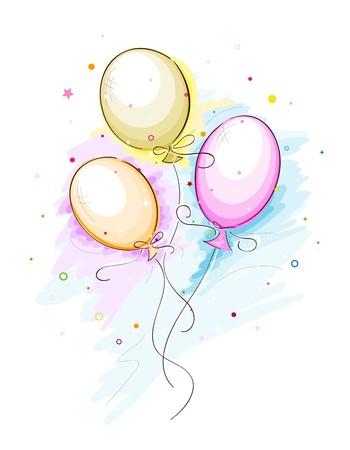 globos fiesta: Esbozo de parte de globos
