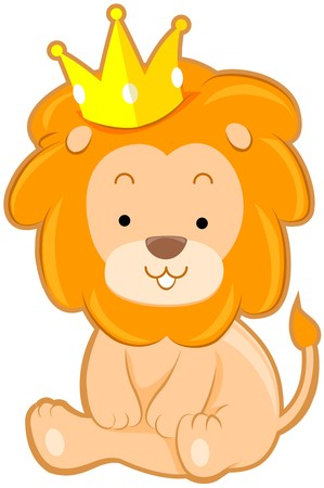 Cute Lion with Crown Stock Photo - 7765157