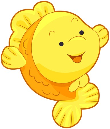 Cute Gold Fish   Stock Photo - 7765197
