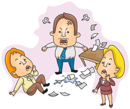 empresario enojado: Empresario enojado
