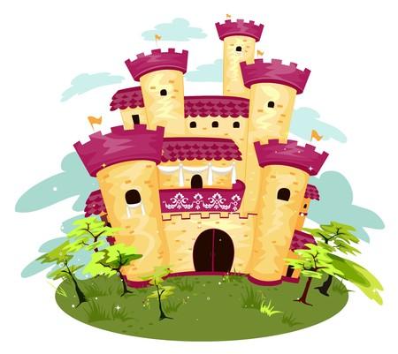 Castle on an Island Stock Photo - 7855010