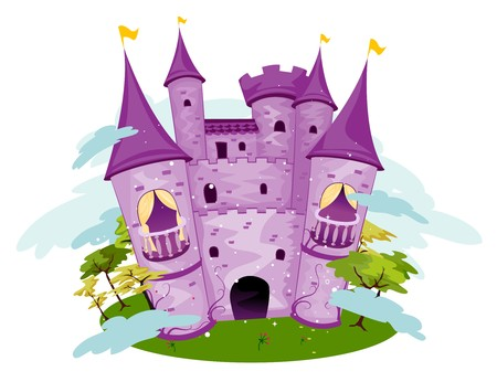 Paars kasteel   Stockfoto - 7854996