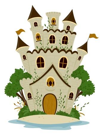 kingdom: Castle among trees