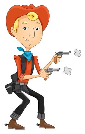 western theme: Cowboy with Gun   Stock Photo