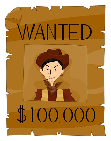 western theme: Wanted Poster