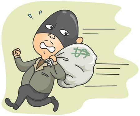 loot: Running Thief   Stock Photo