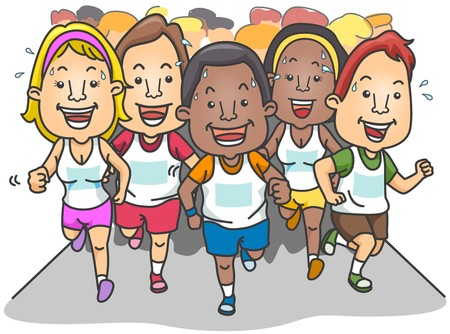 personas corriendo: Personas que correr un marat�n
