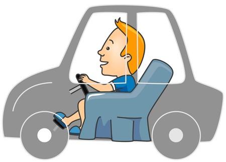 Man dreaming of Driving a Car  photo