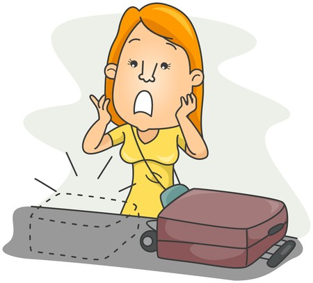 mistake: Lost Luggage   Stock Photo