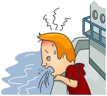 vomit: Man having Travel Sickness
