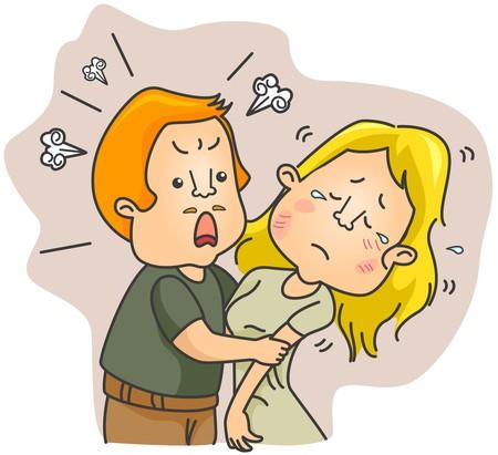 marital: Domestic Violence   Stock Photo