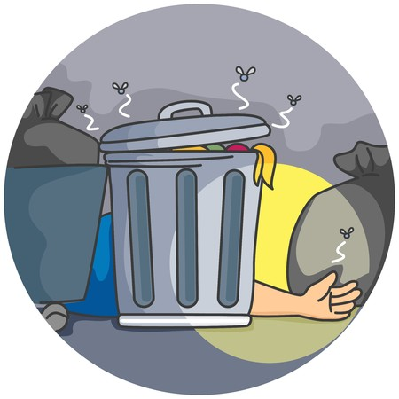 Man Lying behind the dustbin   Stock Photo - 7897443