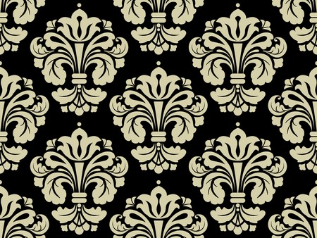 taupe: Seamless Damask Pattern for Background