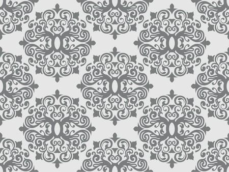 gray pattern: Seamless Damask Pattern for Background