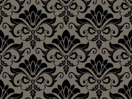 Seamless Damask Pattern for Background photo