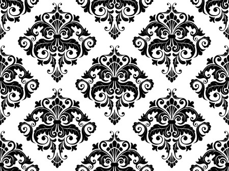 Seamless Damask Pattern for Background photo