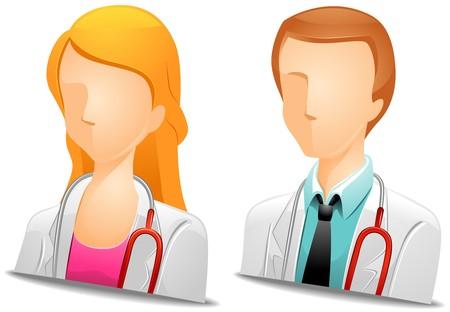 girl stethoscope: Doctor Avatars