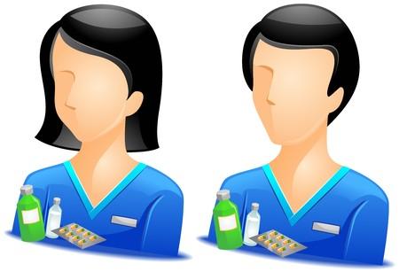 avatars: Avatar di farmacista   Archivio Fotografico