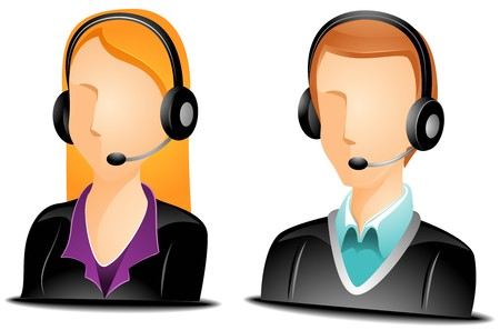 telemarketer: Call Center Agent Avatars