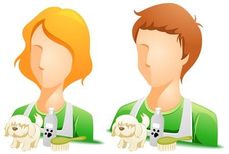 Pet Groomer Avatars Stock Photo - 7936784