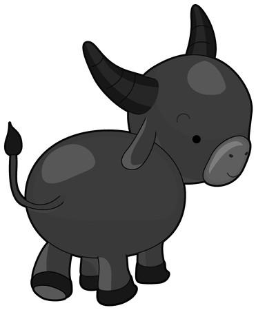 A Water Buffalo Looking Back at Something