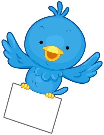 A Little Blue Bird Flying While Clutching a Piece of Paper With its Feet Stock Photo - 8027729