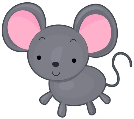 A Cute Smiling Mouse Against White Background Stock Photo - 8027706