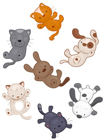 idioms: A Literal Representation of the Idiom Raining Cats and Dogs