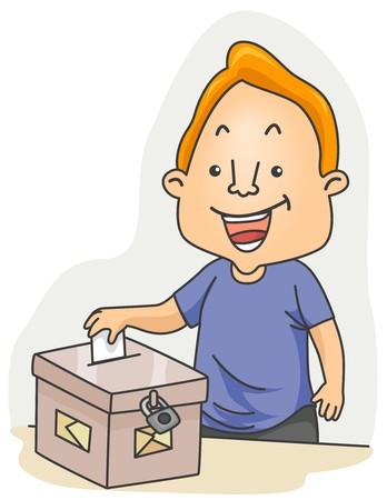 A Man Casting His Vote photo