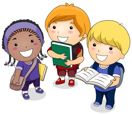 preschooler: A Small Group of Students Carrying Books