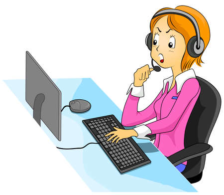 Illustration Featuring an Angry Call Center Agent illustration