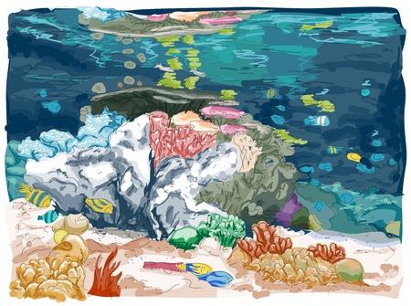 Sketch of an Underwater Scene photo